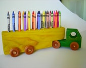 Crayon Semi Truck and Trailer