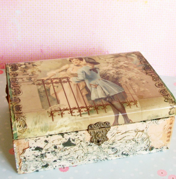 My Darling Maid...Beautifully Decrepit Antique Jewelry Box
