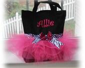 Pink and Black Zebra Ballet Tutu Tote Bag