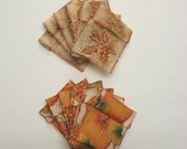 SALE Jewelry Bead Pouches - 12 Fall Leaves Pumpkins