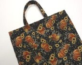 Pumpkins Trick or Treat Goodie Tote Bag -  Sunflowers