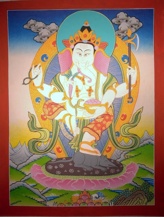 GANESHA  OriGiNaL  PaiNtiNG  FrOm   NePaL  - Completely NoN ProFiT
