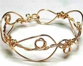 TWISTED CUFF 14kt gf wire cuff bracelet by Crazy Daisy Designs