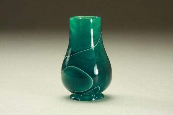 "1"" Scale Miniature Turned Dollhouse Green Acrylic Vase"