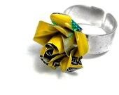 Recycled Jewelry Yellow Rose Ring
