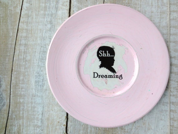 Shabby Chic Nursery Decor // Shhh Sign // Dreaming Sign // Pink Nursery Wall Decor // Paris Apartment Nursery // Modern Farmhouse