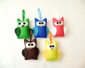 Christmas Tree Ornaments Set - The Owl Motherload - Made to Order