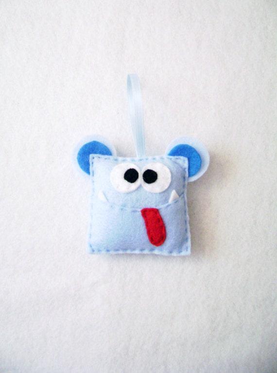 Monster Ornament, Christmas Ornament - Doug the Monster - Made to Order