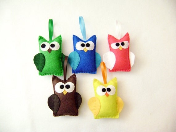 Felt Christmas Ornament Set - The Owl Motherload