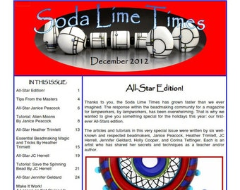 All-Stars Edition - December 2012 Soda Lime Times Lampworking Magazine (PDF) - by Diane Woodall