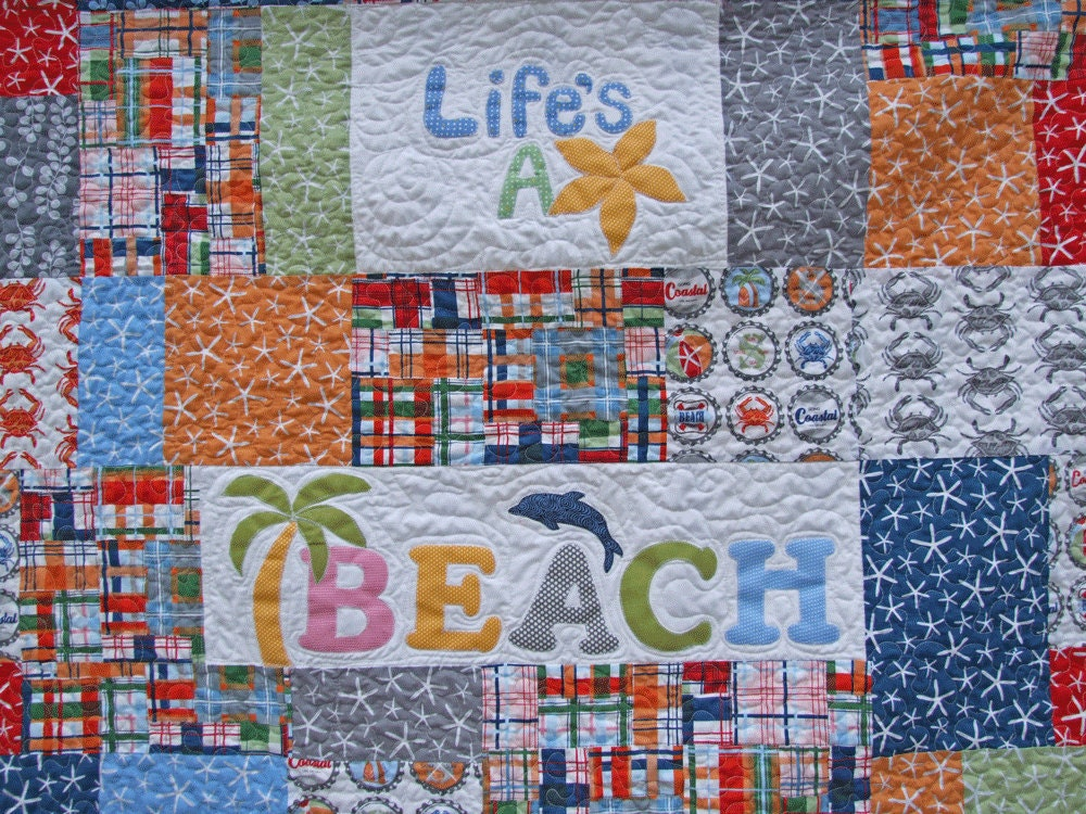 Quilting Patterns Beach Theme : LIFE S A BEACH Quilt by sandboxquilts on Etsy