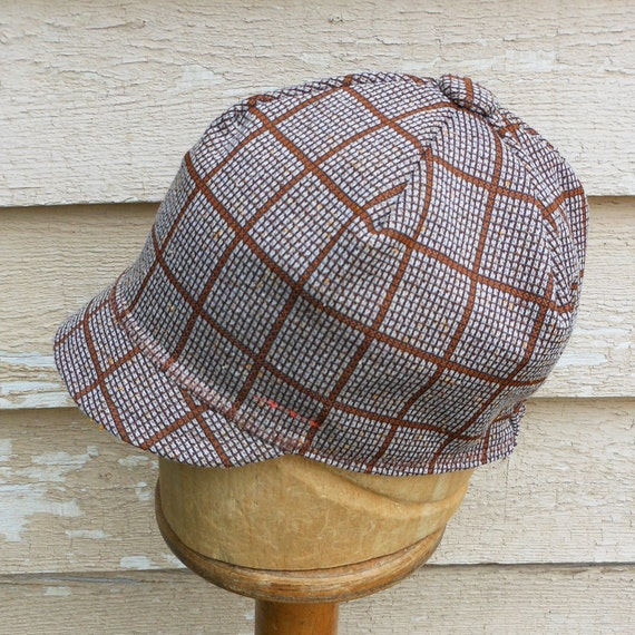 SALE - Womens Hat- Brown Plaid