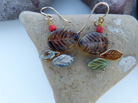 Staggered Leaf Earrings