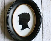 """Oval Black Frame - for 5"""" x 7"""" print - Perfect for Silhouettes"""