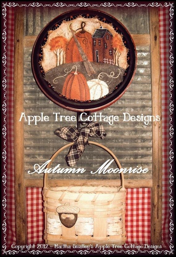 "E Pattern - Martha Smalley's Apple Tree Cottage Designs - ""Autumn Moonrise"""