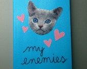 cute kitten address book and alphabetized list of your enemies
