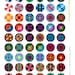 """Vintage Style Quilt Patterns 1"""" circles Digital Collage Printable Sheet for Jewelry Making and Scrapbooking INSTANT DOWNLOAD"""