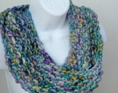 Blue-Green cowl/infinity scarf