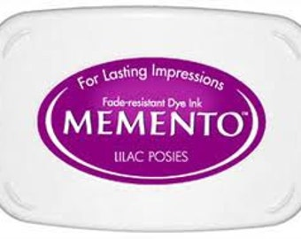 lilac ink pad for rubber stamps  Lilac Memento stamp pad --9109
