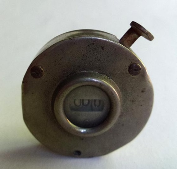 Vintage Mechanical Counter Hand Held Industrial Metal Tally Register