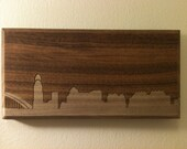 Cincinnati Skyline. - 4x8 - Walnut