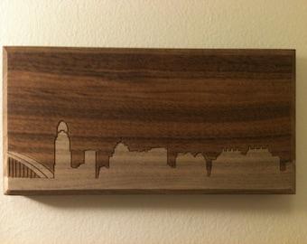 """Cincinnati Skyline - 6""""x12"""""""