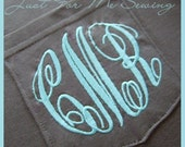 Monogrammed Pocket Tee with Pocket NOT Sewn Shut