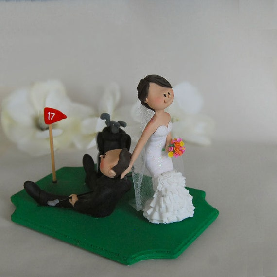 make wedding cake topper items similar to golfer wedding cake topper custom made 17006