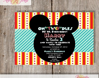 Mickey Birthday Invitation......DIY Printable......or add a printing package