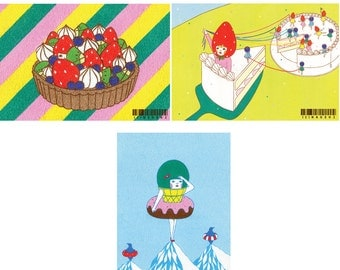 Set of Postcard  -Sweets4-