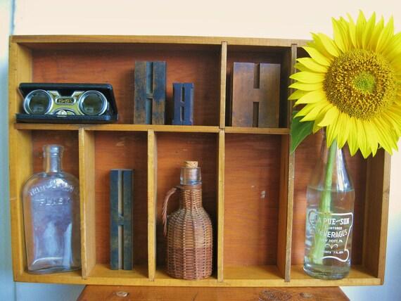 Get Organized... Vintage Post Office Desk Drawer Organizer Caddy Printers Drawer Letterpress Drawer Type Tray