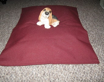 00008 Serpa Maroon -  Tough and Uniqualy Strong Dog Bed Cover Hand Crafted in USA by toughdogbed