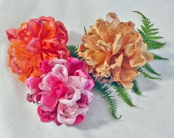 Chrysanthemum Flower Tutorial - How To DIY Ribbon Flower - E Book Pattern - Hair Flower Tutorial - Handmade Flower