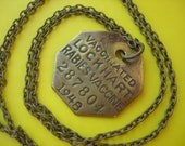 1940's Antique Dog Tag Necklace