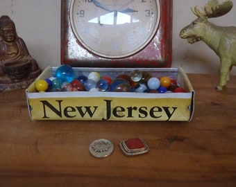 Rustic New Jersey License Plate Tray - Repurposed License Plate Box / Planter - FREE SHIPPING