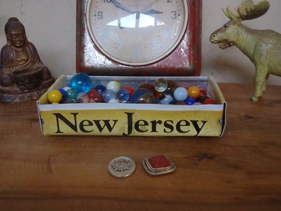 Rustic Treasure Tray - New Jersey License Plate Tray