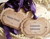 Luxury Candy Buffet Tags - Purple - Or Your Ribbon Color Choice and Your Wording