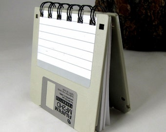 Gray Recycled Geek Gear Blank Floppy Disk Mini Notebook