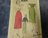 Advance 50's Vintage Skirt Pattern