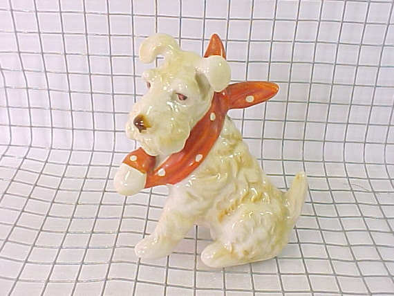 Sweet Irish Terrier Dog Made in Japan Figurine