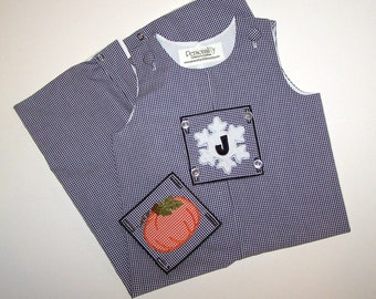 Boy's Long-all with Fall and Christmas Changeable Designs