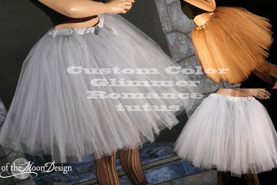 tutu skirt Adult Custom Color Glimmer Romance knee length dance petticoat Bridal costume bridal - You Choose Size -- Sisters of the Moon
