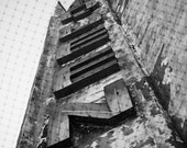 Urban Photography Print, City, Black and White, Fine Art, Marquee, Queen, Building, Photograph  - Sign Of Royalty