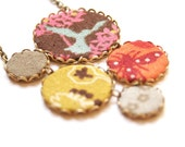 Statement Necklace in Brown, Yellow and Orange - Magic Forest