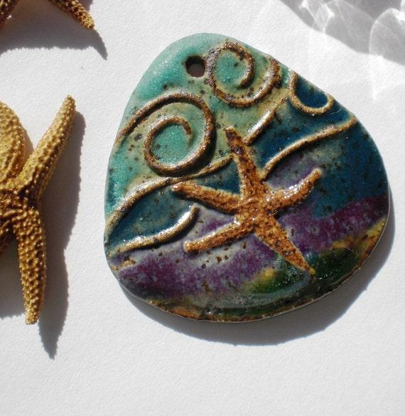 Stoneware Tidal Pool Starfish Pendant