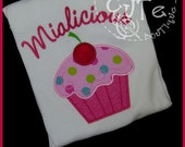 Personalized Your-Name-alicious Pink Cupcake Shirt