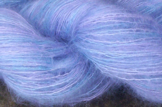 Kid Mohair Lace Weight Yarn--300 yards-Hand Dyed-Super Soft-Knit-Crochet--Animal Rescue--Free Shipping