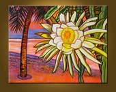 RESERVED FOR VICTORIA -- Night Blooming Cereus -- 22 x 28 inch Original Oil Painting -- Ready to Hang