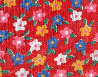 vintage fabric - tiny little daisy like flowers - 60s 70s