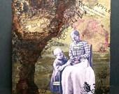 Little Helper---Original Mixed Media Collage Art